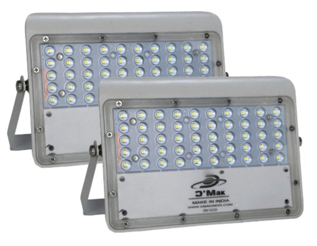 50 Watt LED Flood Light with Lens (Pack Of-2)