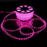 100 meter Flexible waterproof Pink LED Rope Light with Adapter (Pack of 1)