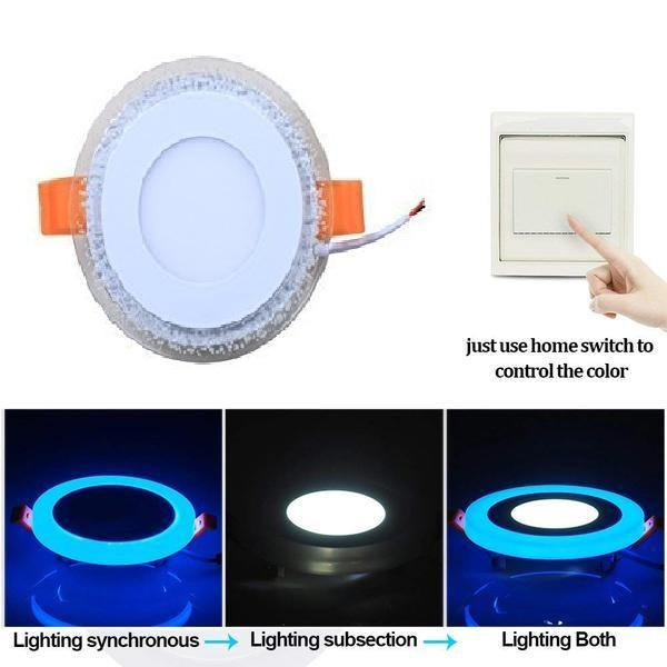 8 Watt Trim less LED Round False Ceiling Panel Light with isolated LED Driver for POP (White, Pack of 8)