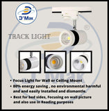 6 Watt Led White Body Wall Light for focusing wall or photo frame (Color-Warm White,Pack of-2)