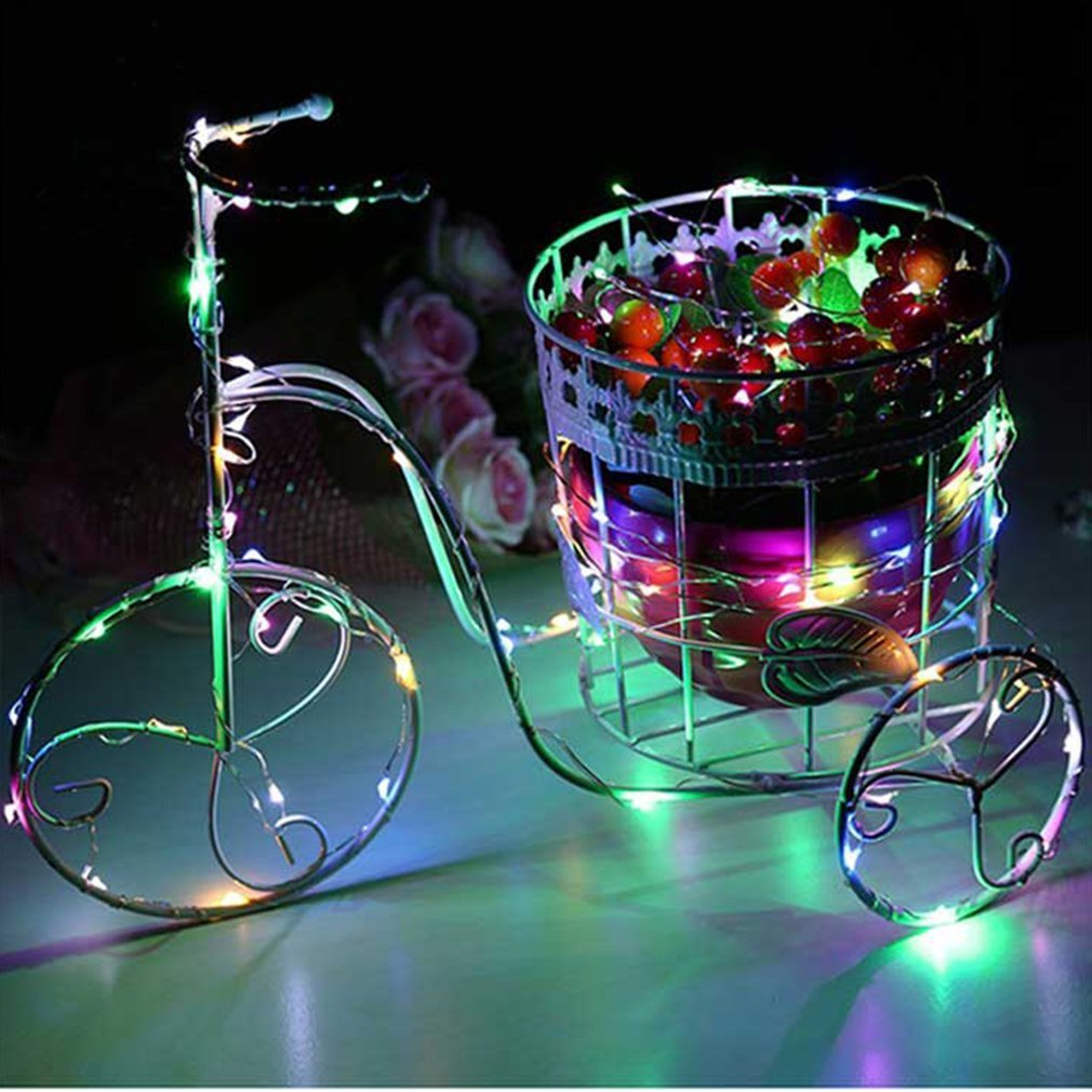 Christmas Led Strip Lights.Colorful Copper Wire Led String Light Waterproof Holiday Led Strip Lighting For Fairy Christmas Tree Wedding Party Decoration