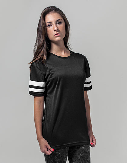 BY033 - Ladies` Mesh Stripe Tee