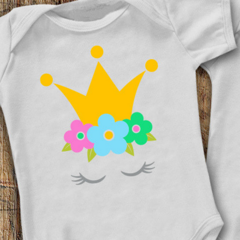 flower crown svg bodysuit