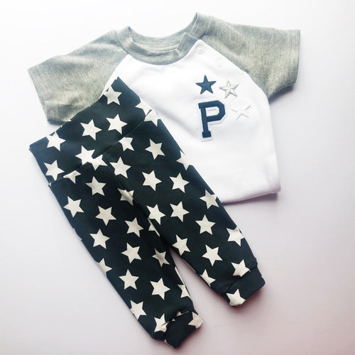 Charcoal Star Leggings and Harems - That Little Outfit