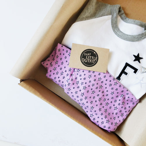 Lilac Star Leggings and Harems - That Little Outfit