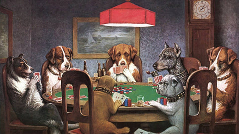 "C.M. Coolidge's Famous ""Dogs Playing Poker"" Painting"
