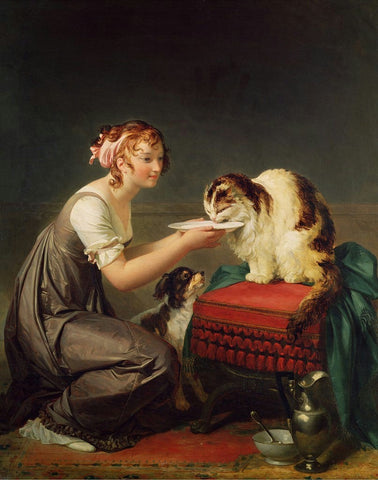 "Marguerite Gerard's ""The Cat's Lunch"""