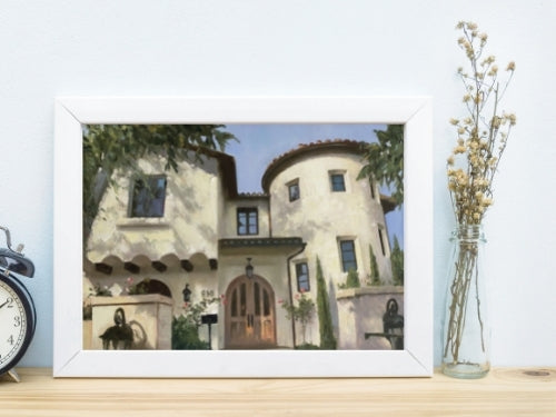 san-diego-home-house-portrait-painting-framed