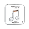 Happy Plugs 7828 In-Ear Headphones with Mic, White Marble
