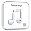 Happy Plugs 7819 In-Ear Headphones with Mic, White