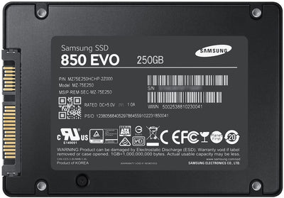"Samsung 850 EVO MZ-75E250B/AM 250GB 2.5"" SATA3 Internal SSD"