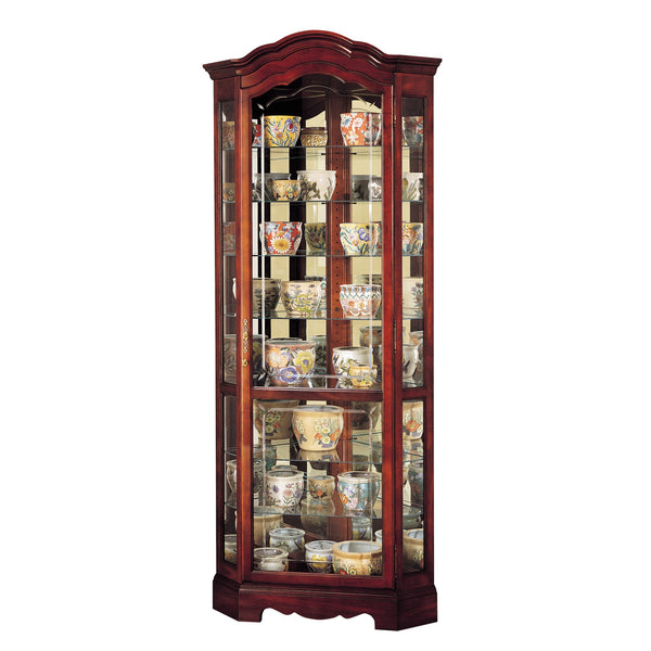 "Howard Miller Jamestown 82"" Corner Curio Cabinet"