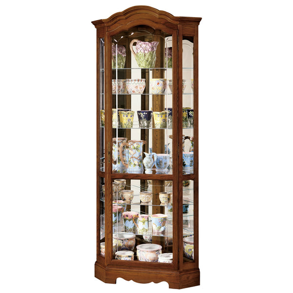 "Howard Miller Jamestown II 82"" Corner Curio Cabinet"