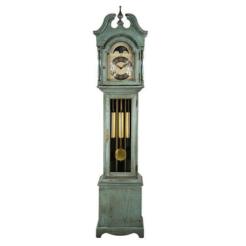 "Hermle Alexandria 80"" Blue Mechanical Floor Clock"