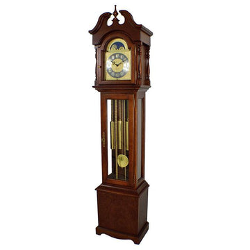 "Hermle Alexandria 80"" Cherry Mechanical Floor Clock"