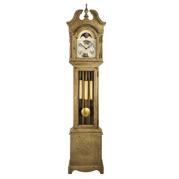 "Hermle Alexandria 80"" Grey Mechanical Floor Clock"
