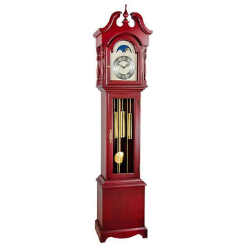 "Hermle Alexandria 80"" Red Mechanical Floor Clock"