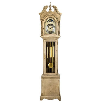 "Hermle Alexandria 80"" White Mechanical Floor Clock"