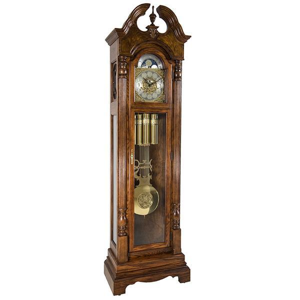 "Floor Clock - Hermle Blakely 86"" Mechanical Floor Clock - Cherry"