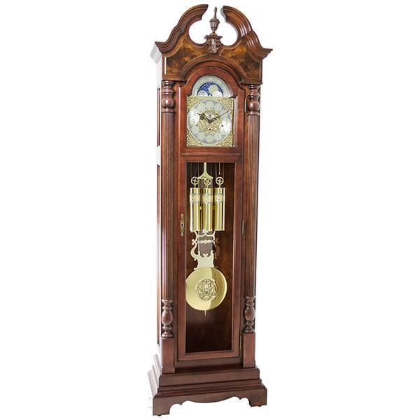 "Floor Clock - Hermle Blakely 86"" Mechanical Floor Clock - Dark Oak"
