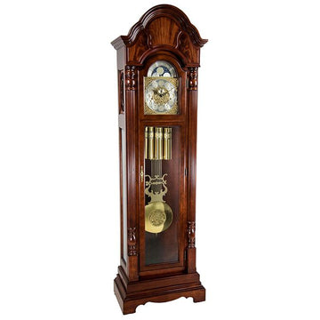 "Hermle Brookefield 85"" Mechanical Floor Clock - Cherry"
