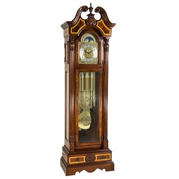 "Floor Clock - Hermle Foreman 92"" Tubular Mechanical Floor Clock"