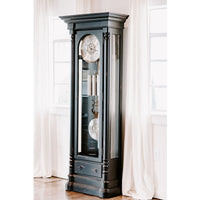 "Floor Clock - Hermle Nicolette 85"" Black Grandfather Floor Clock"