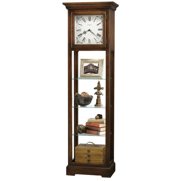 "Floor Clock - Howard Miller Le Rose 73.5"" Floor Clock Display Cabinet"