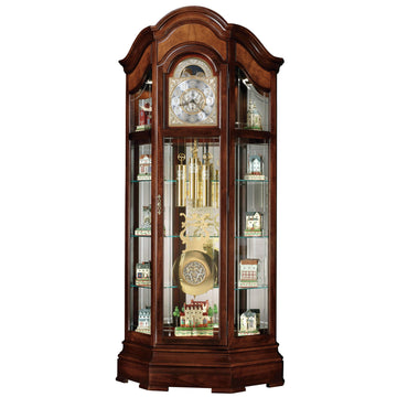 "Howard Miller Majestic II 88"" Mechanical Grandfather Floor Clock Display Cabinet"