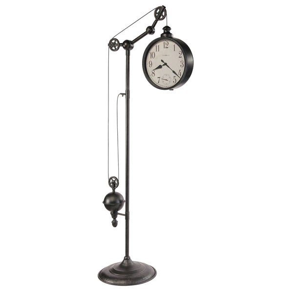 "Floor Clock - Howard Miller Pulley Time II 79"" Quartz Floor Clock"
