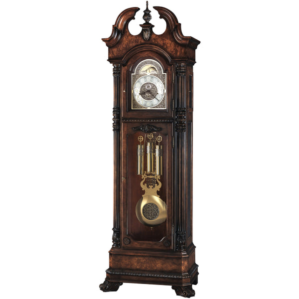 "Floor Clock - Howard Miller Reagan 93"" Mechanical Grandfather Floor Clock"