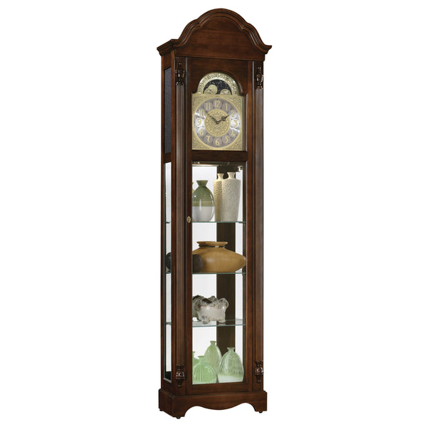 "Floor Clock - Ridgeway Clarksburg 79"" Quartz Grandfather Floor Clock"