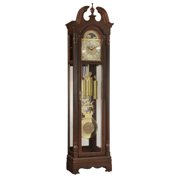 "Floor Clock - Ridgeway Fremont 85"" Mechanical Grandfather Floor Clock"
