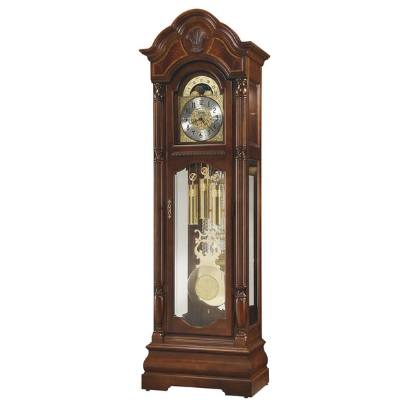 "Floor Clock - Ridgeway Wilton Bellair 91"" Mechanical Grandfather Floor Clock"
