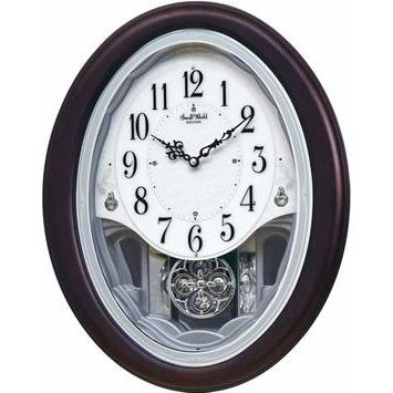 Magic Motion Clock - Rhythm Small World Crystal Delight Musical Motion Wall Clock
