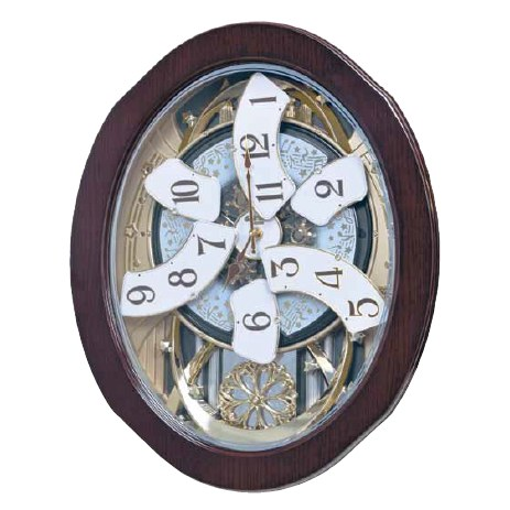 Magic Motion Clock - Rhythm Small World Grand Anthology Magic Motion Wall Clock