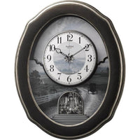 Magic Motion Clock - Rhythm Small World Joyful Homestead II Magic Motion Wall Clock