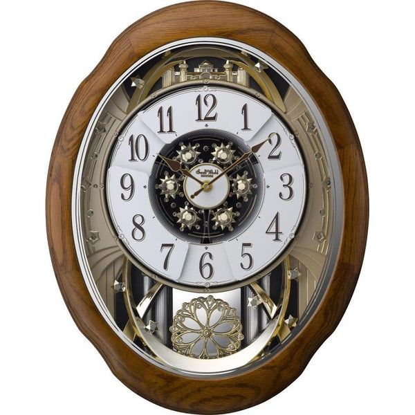 Magic Motion Clock - Rhythm Small World Joyful Meditation Magic Motion Wall Clock