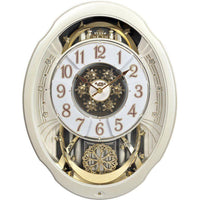 Magic Motion Clock - Rhythm Small World Marvelous Pearl Magic Motion Wall Clock
