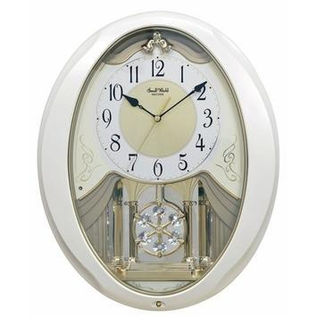 Magic Motion Clock - Rhythm Small World Snowflake Pearl Musical Motion Wall Clock