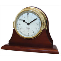 Marine Clock Base - Weems And Plath Single Mahogany Base For Endurance II 105 Ship's Clock Series