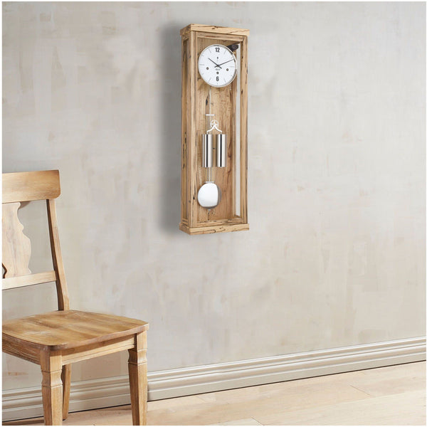 "Regulator Wall Clock - Hermle Abbot 34"" Ice Beech Finish Wall Clock"
