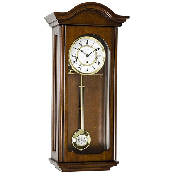 "Regulator Wall Clock - Hermle Brooke 25.5"" Traditional Westminster Regulator Wall Clock"