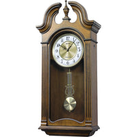 Regulator Wall Clock - Rhythm Small World WSM Tiara II Wooden Musical Regulator Wall Clock