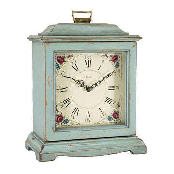 "Hermle Austen 12"" Mechanical Table Clock - Blue"