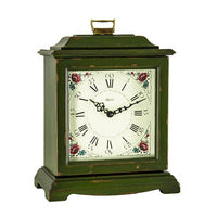"Table Clock - Hermle Austen 13"" Mechanical Table Clock - Green"