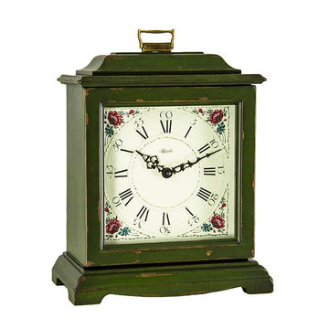 "Hermle Austen 12"" Mechanical Table Clock - Green"