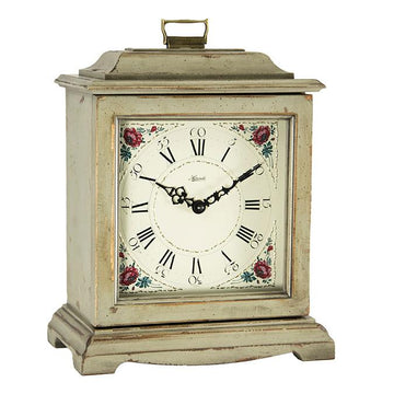 "Hermle Austen 12"" Mechanical Table Clock - Grey"