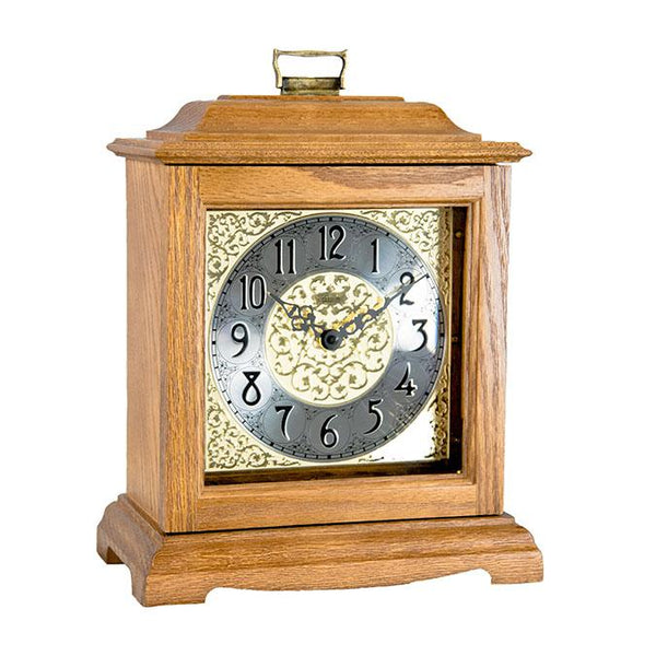 "Table Clock - Hermle Austen 13"" Mechanical Table Clock - Light Oak"