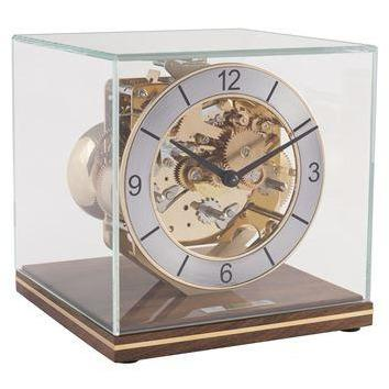 "Table Clock - Hermle Clarke 7"" Designer Table Clock - Walnut"
